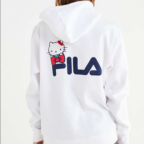 3c6f3b169 Fila Tops | X Sanrio For Uo Hello Kitty Hoodie | Poshmark